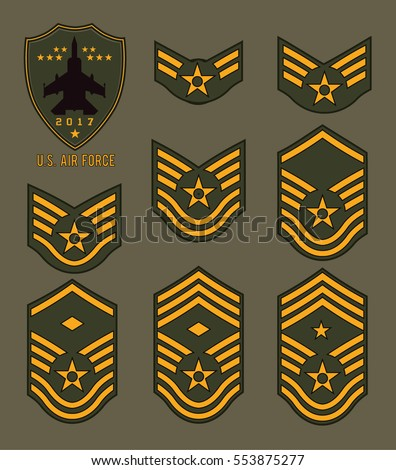 set of army badge typography  t