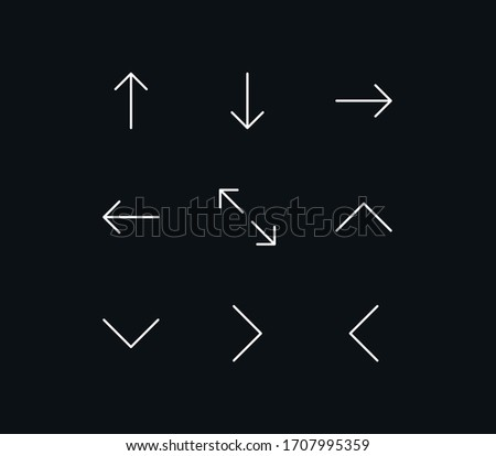 set of arrow and control icons
