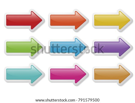 set of arrow signs