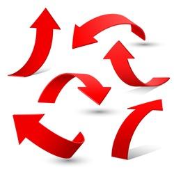 Set of arrow stickers, vector illustration
