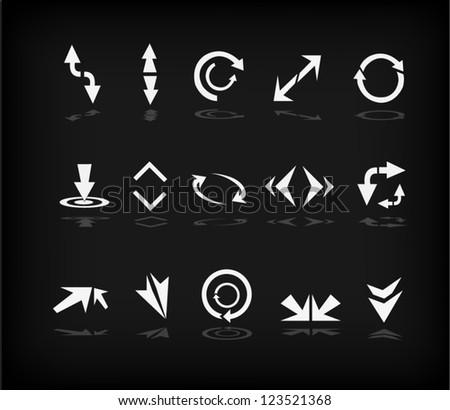 Set of arrows (Vector)