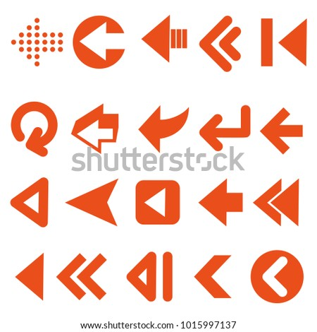 set of arrows vector with black color #1015997137