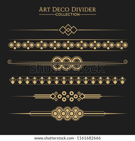 Set of Art deco dividers and headers.