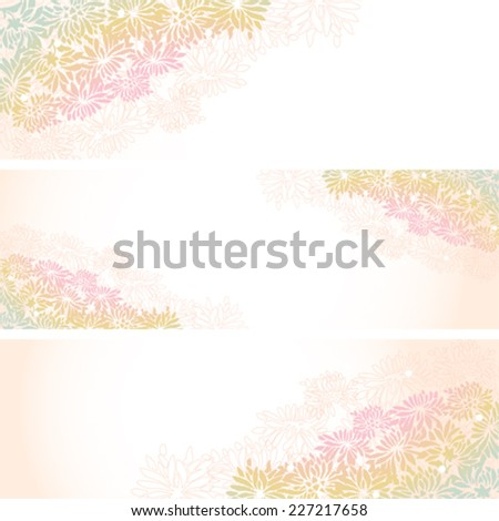 set of asian chrysanthemum