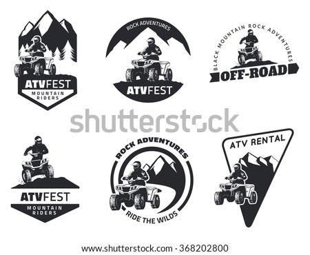 set of atv logo  emblems