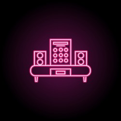 Set of audio speaker icons on white backgroundicon. Simple thin line, outline vector of household icons for ui and ux, website or mobile application