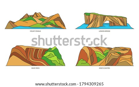 set of australia nature