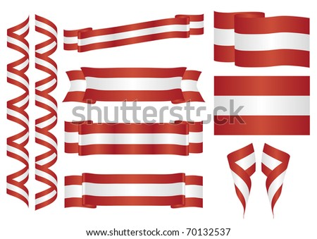 Set of austrian vector ornaments. Decorative elements