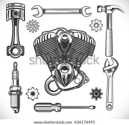 set of auto and moto logos
