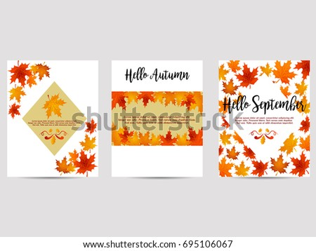 set of autumn backgrounds with