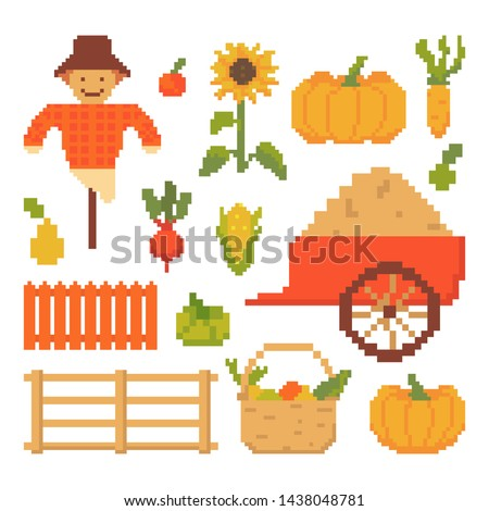 set of autumn elements isolated