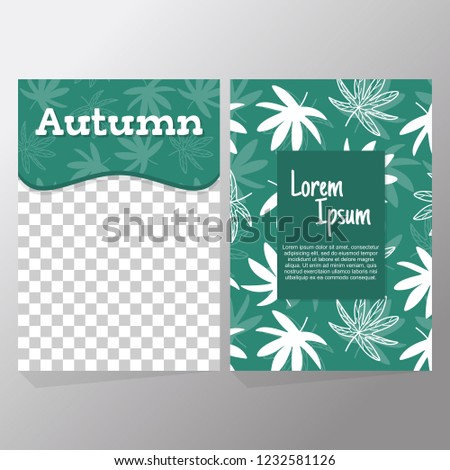 Poster With Lettering White Silhouette Japanese Maple Leaves