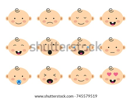 cute baby face with different expression vectors download free