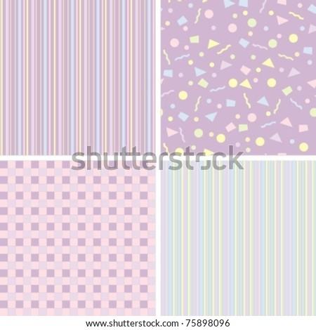 set of backgrounds for scrapbook