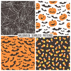 Set of backgrounds in the style of Halloween.