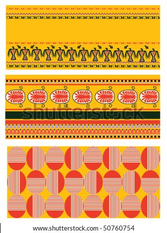 Set of backgrounds native  style design.