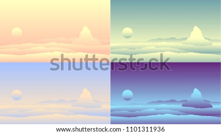 set of backgrounds with