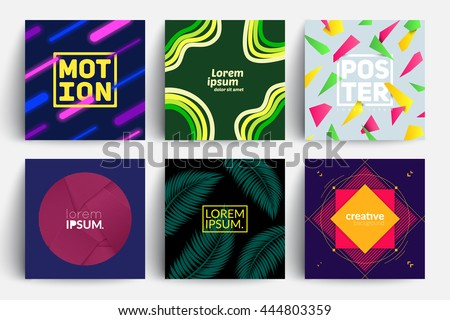 set of backgrounds with trendy