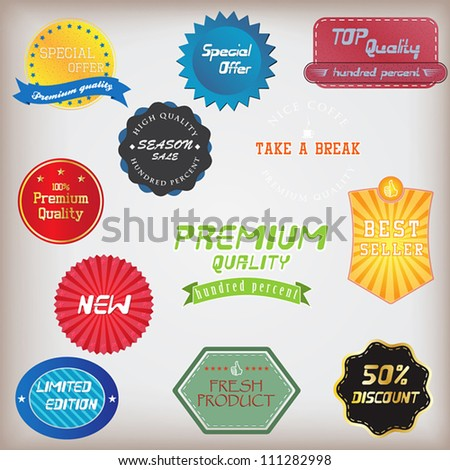 Set of badge and labels. Vector