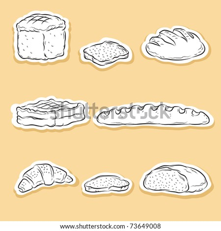 Set of Bakery icons - stock vector
