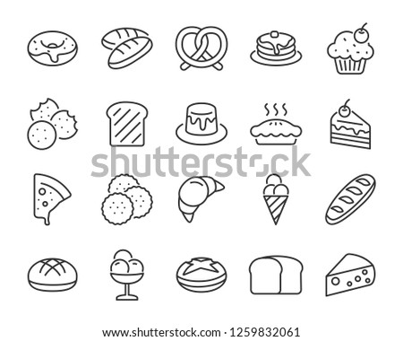 set of bakery icons   such as