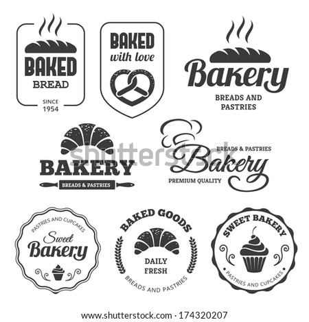 Set of bakery labels and symbols 2