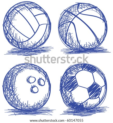 set of ball doodle