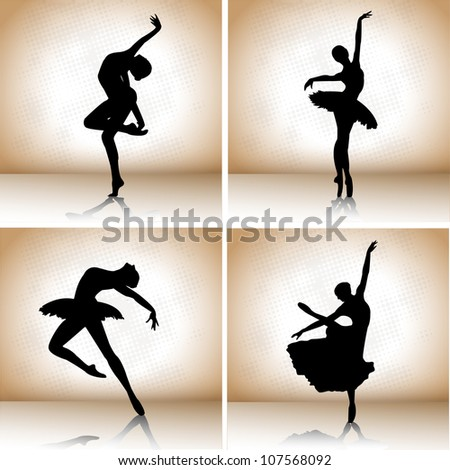 set of ballet dancers