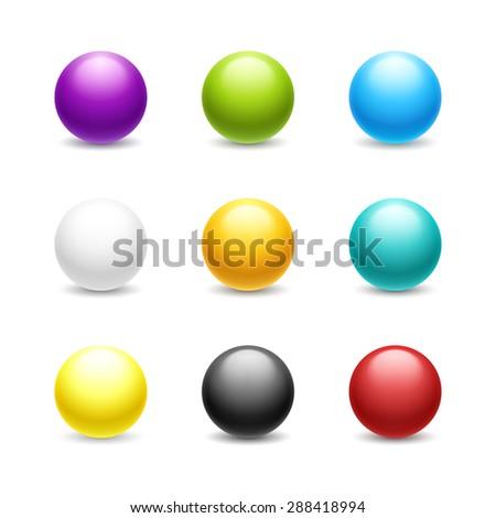 set of balls colored balls