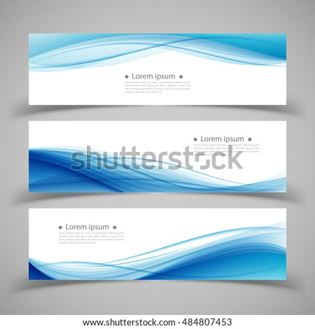 set of banner templates modern