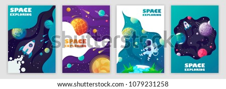 set of banner templates
