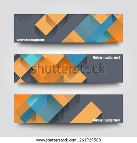 Set of banner templates with abstract background. Eps10 Vector illustration #261929588