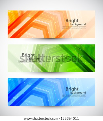 set of banners