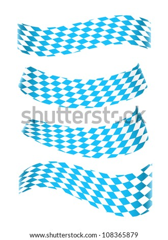 Set of banners in bavarian colors