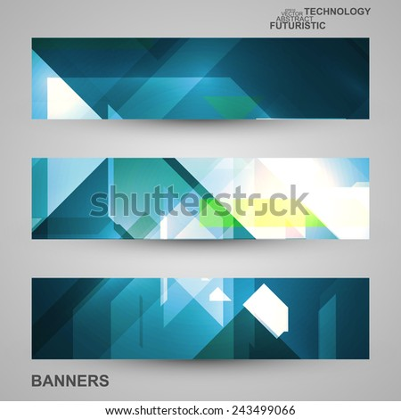 Set of banners, technology art illustration, vector eps10 #243499066