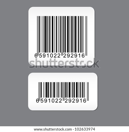 Set of barcode sticker - stock vector