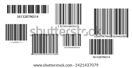 set of barcodes  barcode label