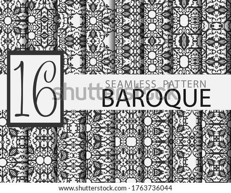 set of 16 baroque seamless