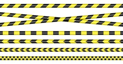 Set Of Barrier Tapes Yellow And Black