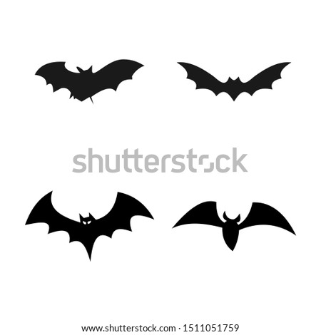 set of bat silhouette for hallowen decoration. halloween bat icon Stock photo ©