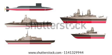 set of battleships  frigates