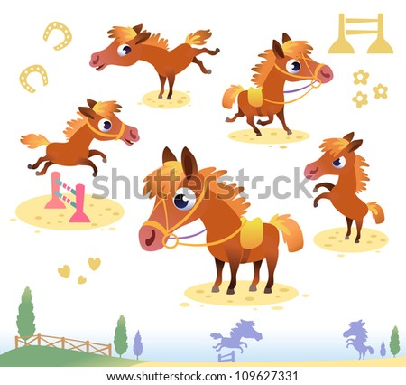 set of bay horses