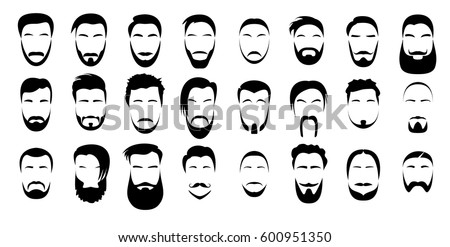 set of beards and mustache