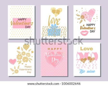 set of beautiful greeting cards
