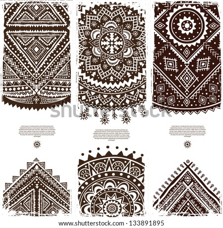 Set of Beautiful Indian ornament banners