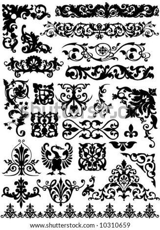 set of beautiful vector design elements