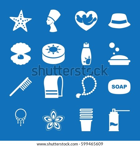 set of 16 beauty filled icons