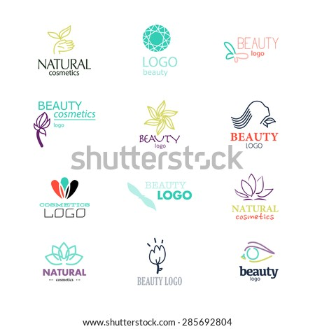 set of beauty industry and