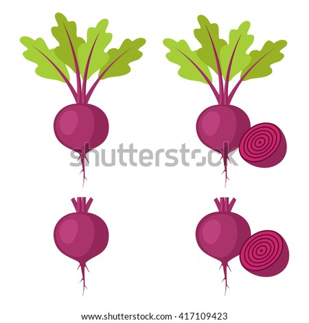 set of beet   beet with leaves