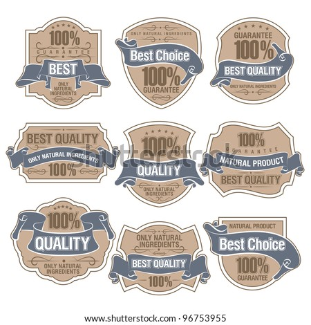 Set of Best Quality Labels